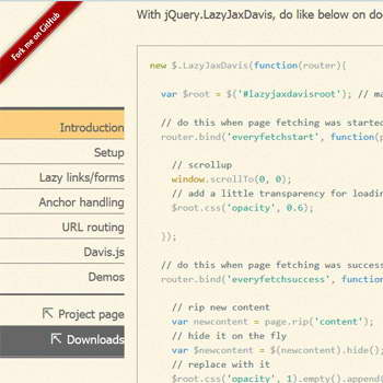 jQuery.LazyJaxDavis : Change static into dynamic - ajax based